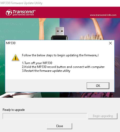 Transcend mp330 firmware update.